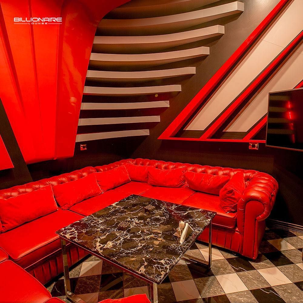Billionaire Lounge Room Red Velvet